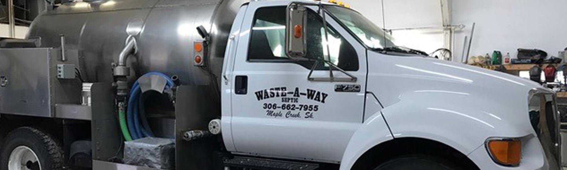 Waste-A-Way truck